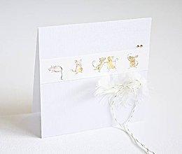 Papiernictvo - Pozdrav pre bábätko - Myšky hryzky II - 8223078_