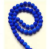 - Sklenená korálka - neón, tmavo modrá /5ks - 8224228_