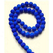 Korálky - Sklenená korálka - neón, tmavo modrá /5ks - 8224228_