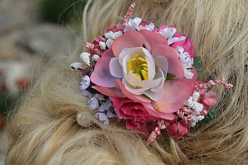 Spona do vlasů - růžová   Avadesign - SAShE.sk - Handmade Ozdoby do ... 67789b0da3