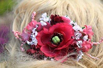Ozdoby do vlasov - Spona do vlasů - vínově červená - 8223814_