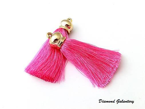 Hodvábny strapcový prívesok - ružový