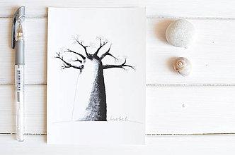 Papiernictvo - Pohľadnica Baobab - 8222606_