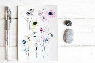 Papiernictvo - Pohľadnica Priesvitné kvety - 8222612_