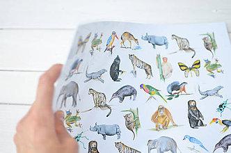 Úžitkový textil - Detské umývateľné prestieranie Zvieratká - 8223547_
