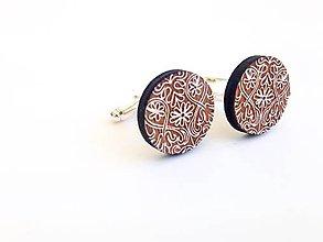 Šperky - Manžetové gombíky vzor maľovaný - 8224141_