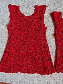 Topy - letné pletené tielko červené - 8223619_
