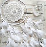 Dekorácie - Lapač snov Mandala Dream (white) - 8223561_