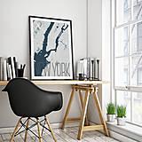 Obrazy - NEW YORK, elegantný, svetlomodrý - 8223010_