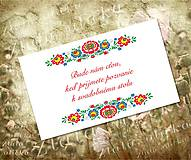 Papiernictvo - Signet Folk pozvanie k sv. stolu - 8222913_