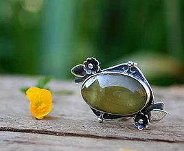 Prstene - Prvý deň júnový - strieborný kvetinový prsteň - 8223665_