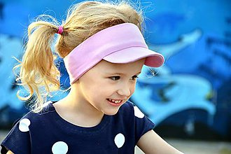 Detské čiapky - Čelenka so šiltom Sporty girl 21 odtieňov - 8224352_