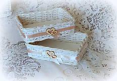 Košíky - Košík na svadobné pierka - 8223375_