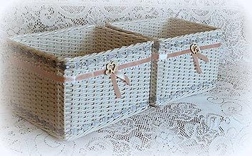 648c17fe2 Košík svadobný so saténovou ružou / BySong - SAShE.sk - Handmade Košíky