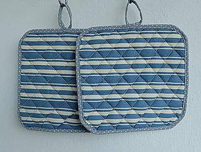 Úžitkový textil - Chňapka (vzor modrý pruh) - 8222470_
