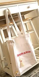 Nákupné tašky - Nákupná taška z ručne tkaného ľanu - 8222992_