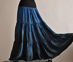 Sukne - Jako noční obloha...dlouhá hedvábná sukně - 8223715_