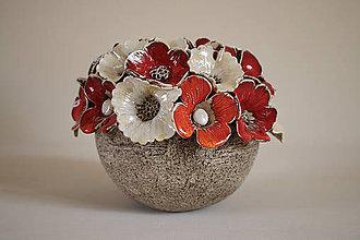Svietidlá a sviečky - Svietnik - kvetinkový - 8225494_