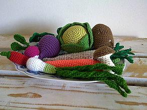 Hračky - Montessori - kosik so zeleninkou - 8226869_