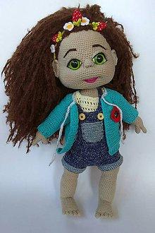 Hračky - Háčkovaná veľká bábika DOROTKA - 8225098_