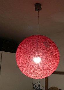 Svietidlá a sviečky - Špagátová lampa 50cm - 8227182_