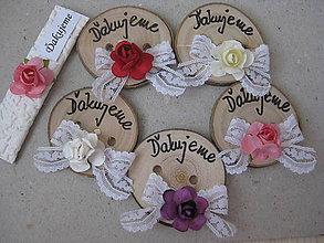 Darčeky pre svadobčanov - Gombík šťastia - 8225775_