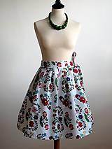 Sukne - zavinovacia folk sukňa s farebnými ornamentami - 8226915_