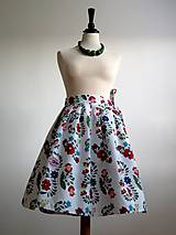 Sukne - zavinovacia folk sukňa s farebnými ornamentami - 8226916_