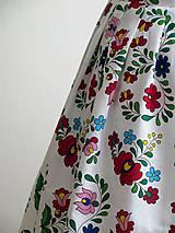 Sukne - zavinovacia folk sukňa s farebnými ornamentami - 8226917_