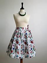 Sukne - zavinovacia folk sukňa s farebnými ornamentami - 8226918_