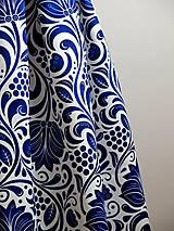 Sukne - slávnostná sukňa Modrý ornament - 8226989_