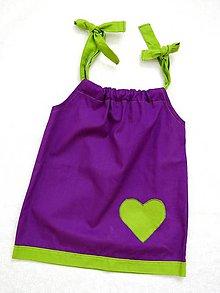 Detské oblečenie - dievčenské fialové šaty - 8226934_