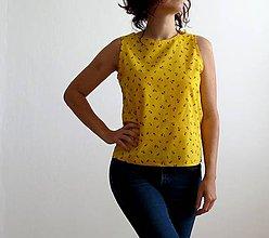 Tričká - bavlnené košelotričko slniečkovo-žlté - 8227172_