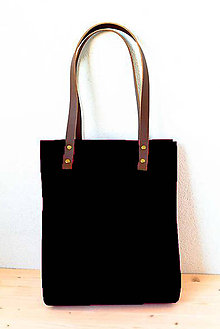 Kabelky - Urban... black... Felt & Leather... - 8226596_