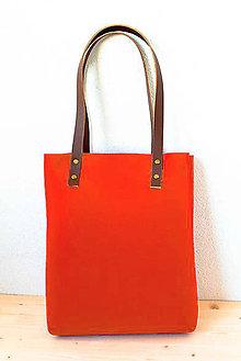 Kabelky - Urban... red... Felt & Leather... - 8226823_