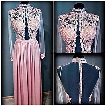 Šaty - Spoločenské šaty s krajkou v staroružovej farbe - 8226023  1fc5fa4e88b
