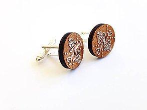 Šperky - Manžetové gombíky Čičmany maľované - 8226920_