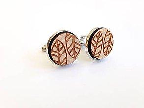 Šperky - Manžetové gombíky Lístok - 8226944_