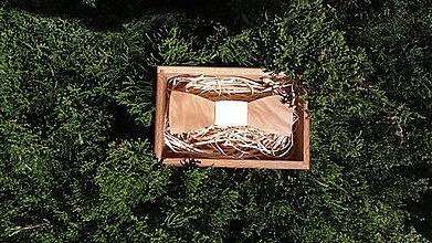 Doplnky - Pánsky drevený motýlik - 8225461_