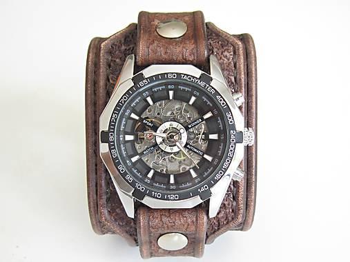 f0caf873f Hnedý kožený remienok s hodinkami winner II / leon - SAShE.sk ...