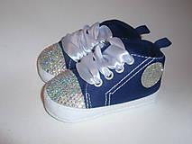 Topánočky - Capačky vykladané kryštálmi - 8224659_