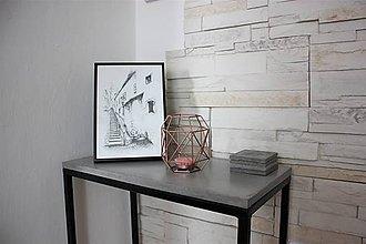 Nábytok - Minimalistický betónový stolík - 8227039_