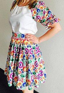Sukne - Krásna vzorovaná suknička - 8227229_