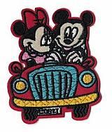 Galantéria - Nažehľovačka Mickey a Minnie v aute - 8226244_