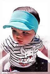 Detské čiapky - Čelenka so šiltom Sporty boy 21 odtieňov - 8226165_