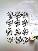 Darčeky pre svadobčanov - ☘ štvorlístok  III ☘ - 8224465_