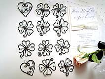 Darčeky pre svadobčanov - ☘ štvorlístok  III ☘ - 8224466_