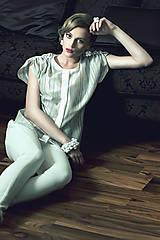 Košele - Strieborná košeľa - DEKOR - na objednávku - 8225030_