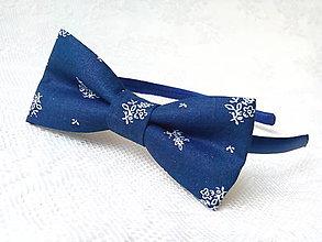 Ozdoby do vlasov - Dark blue folklore headband - 8229957_