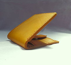 Peňaženky - Kožená peněženka žlutá-SKLADEM! - 8227404_